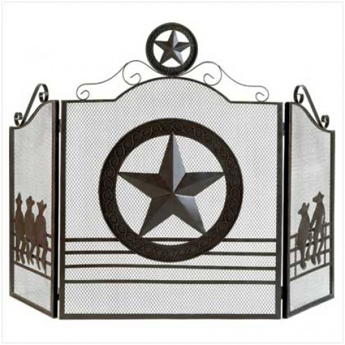 Lone star fireplace screen for Lone star home decor