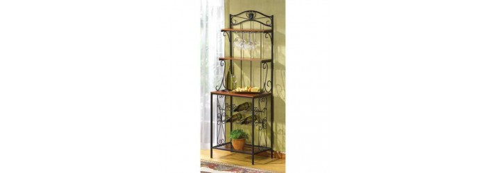 Bakers Style Wine and Glass Rack