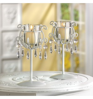 Crystal Drop Votive Stands
