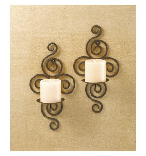 Stunning Scrollwork Candle Sconces