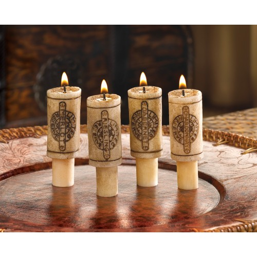 Cork Candles: Wine Cork Candle Set