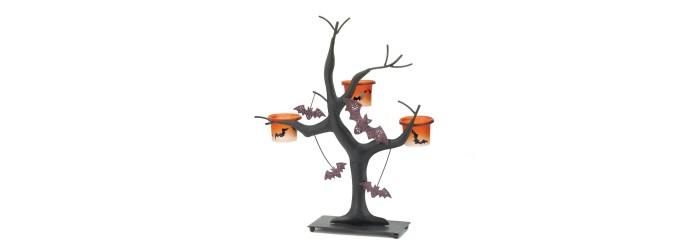 Spooky Halloween Candle Tree
