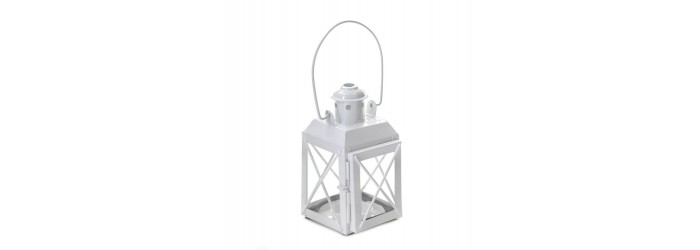 White Railway Candle Lamp