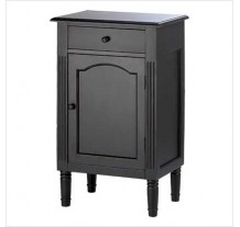 Antiqued Black Wood Cabinet