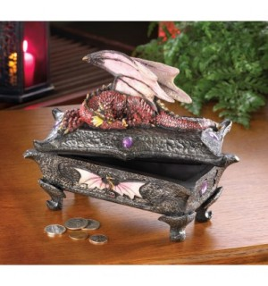 Pink Dragon Treasure Box