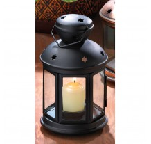 Black Colonial Candle Lamp